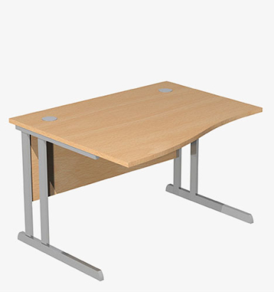 Optima C Range Wave Desk - london office furniture warehouse