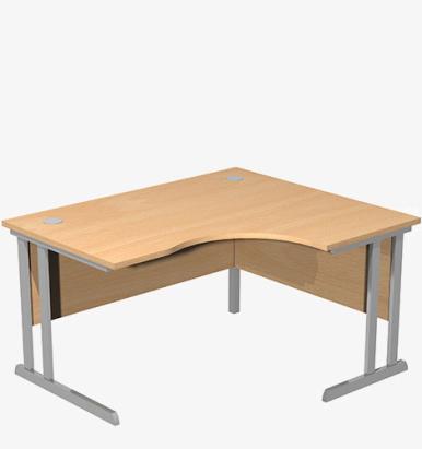 Optima C Range Radial Desk - London Office Furniture Warehouse