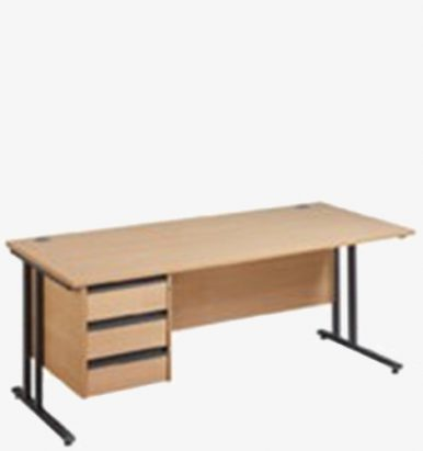 Maestro 25GL Cantilever Range Single Pedestal Desk from London Office Furniture Warehouse
