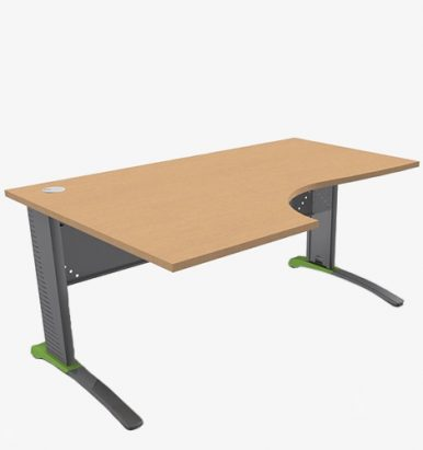 Colour Metal Mod Range Radial Desks - London Office Furniture Warehouse