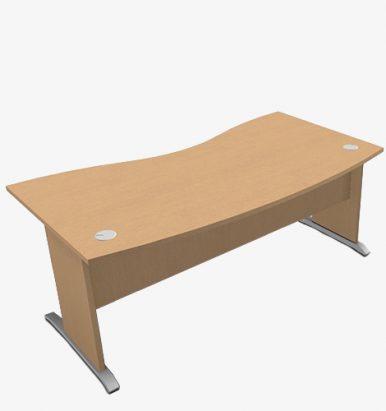 Retro Range Double Wave Desk - London Office Furniture Warehouse