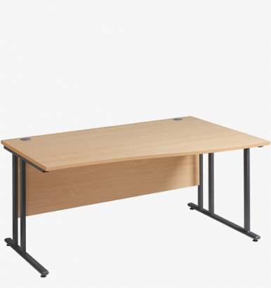 Maestro 25GL Cantilever Range Wave Desk from London Office Furniture Warehouse