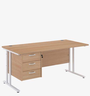 Maestro 25WL Range Single Pedestal Desk from London Office Furniture Warehouse
