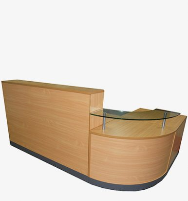 Corner Reception Counter in Beech from London Office Furniture Warehouse