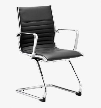 Ritz cantilever chair - black chair - eames