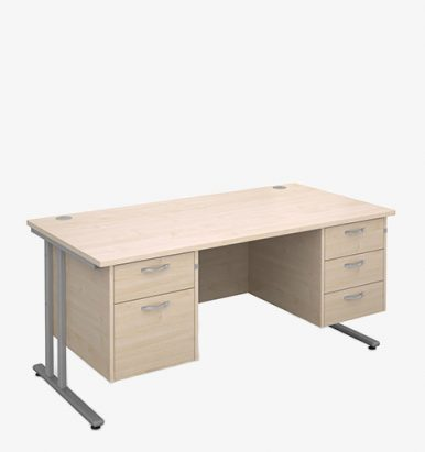 Maestro 25SL Range Double Pedestal Desks - London Office Furniture Warehouse