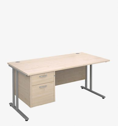 Maestro 25SL Range Single Pedestal Desks - London Office Furniture Warehouse