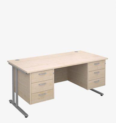 Maestro 25SL Range Double Pedestal Desks - London Office Furniture Warehouse