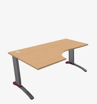 Colour Beam Range Radial Desks - London Office Furniture Warehouse