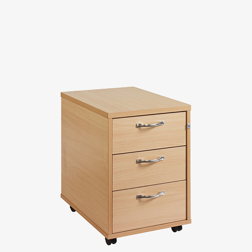 Silver Handled Mobile Pedestals from London Office Furniture Warehouse