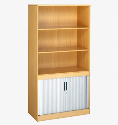 Combination Storage - Bookcase and Tambour from London Office Furniture Warehouse