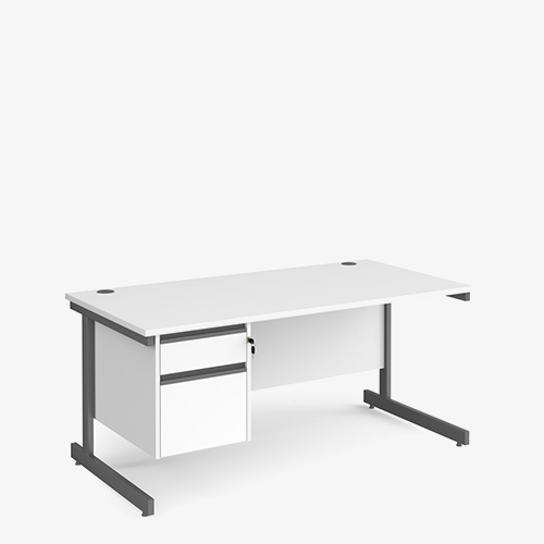 Contract 25 Range Single Pedestal Desks - Office Furniture in London