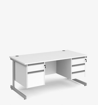 Contract 25 Range Double Pedestal Desks - Office Furniture in London