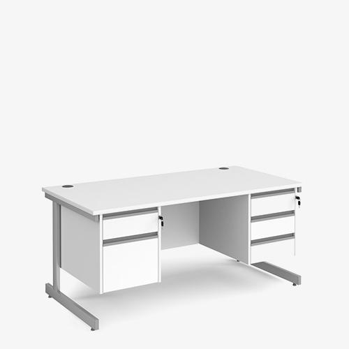 Contract 25 Range Double Pedestal Desks - Office Furniture in London
