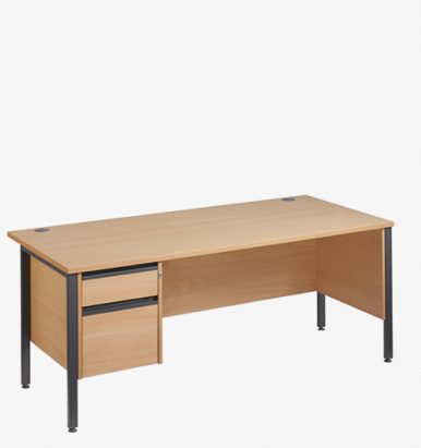 Maestro 25GLH Range Single Pedestal Desks from London Office Furniture Warehouse