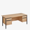 Maestro 25GL Range Double Pedestal Desk from London Office Furniture Warehouse