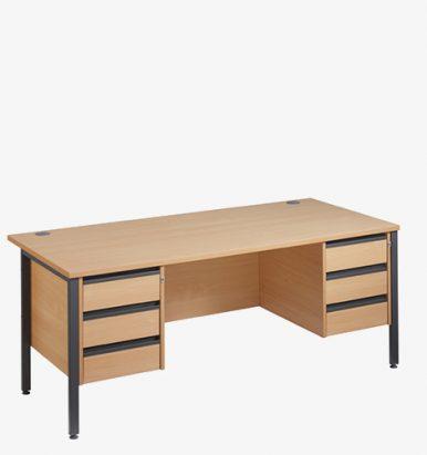 Maestro 25GLH Range Double Pedestal Desks - London Office Furniture Warehouse