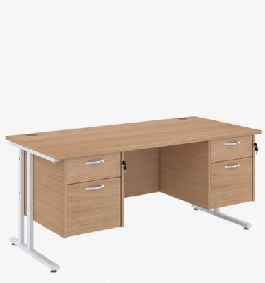 Maestro 25WL Range Double Pedestal Desks from London Office Furniture Warehouse