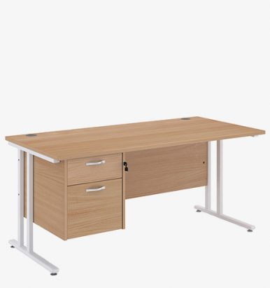 Maestro 25WL Range Single Pedestal Desk from London Office Furniture Warehouse