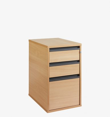 Maestro 25GL Range desk high pedestal form London Office Furniture Warehouse