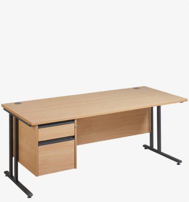 Maestro 25GL Range Single Pedestal Desks from London Office Furniture Warehouse