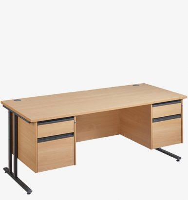 Maestro 25GL Range Double Pedestal Desks from London Office Furniture Warehouse