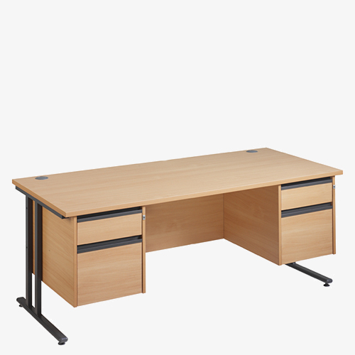 Maestro 25GL Range Double Pedestal Desks from London Office Furniture Warehouse