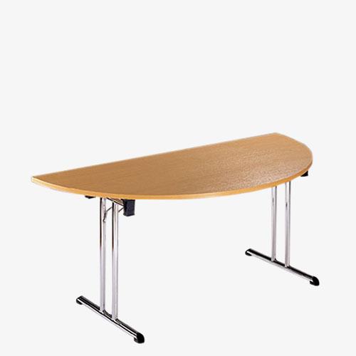 Deluxe Folding Leg Semi-Circular Meeting Table - London Office Furniture Warehouse