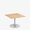 Trumpet Base Square Table - London Office Furniture Warehouse