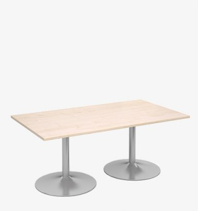 Trumpet Base Rectangular Table - London Office Furniture Warehouse