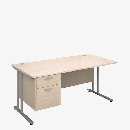Maestro 25SL Range Single Pedestal Desks - London Office Furniture Warehouse