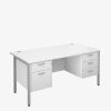 Maestro 25SLH Range Double Pedestal Desks - London Office Furniture Warehouse