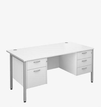 Maestro 25SLH Range Double Pedestal Desks - London Office Furniture Warehouse