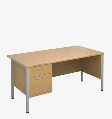 Maestro 25SLH Range Single Pedestal Desks - London Office Furniture Warehouse