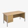 Maestro 25SLH Range Single Pedestal Desks - London Office Furniture Warehouse