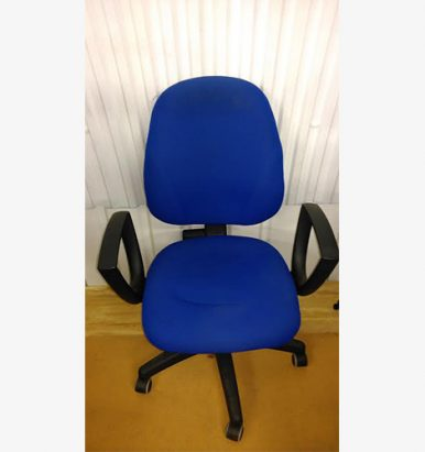 Medium Back Blue Operator Chair - London Office Furniture Warehouse