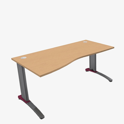 Colour Beam Range Wave Desks - London Office Furniture Warehouse