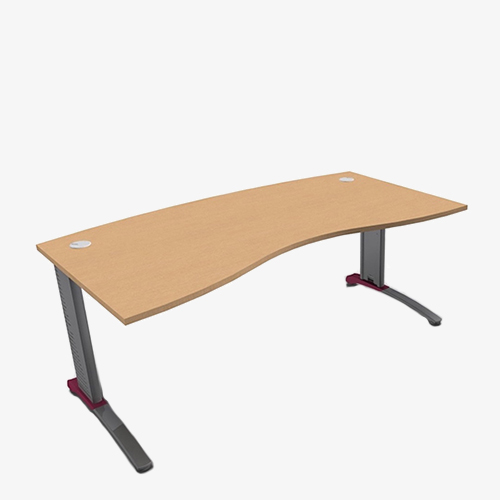 Colour Beam Range Double Wave Desks - London Office Furniture Warehouse