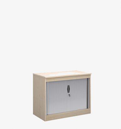 Simple Tambour Cupboard - London Office Furniture Warehouse