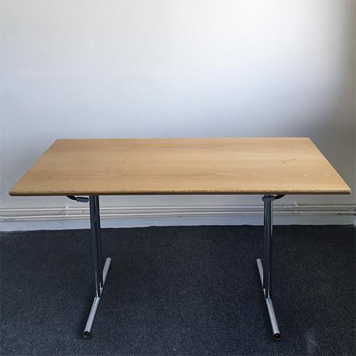 Oak Veneered Folding Framed Table
