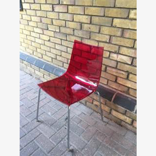 Red Transparent Stacker Chair