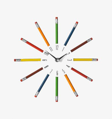 Pencil Clock by Premier