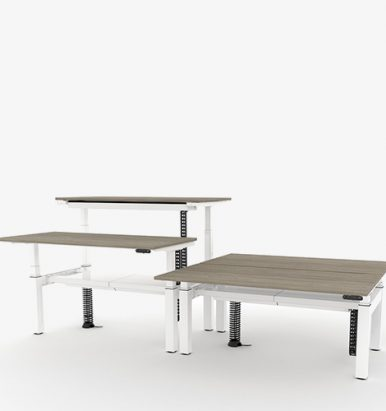 Gravity Height Adjustable Bench Desk Bank
