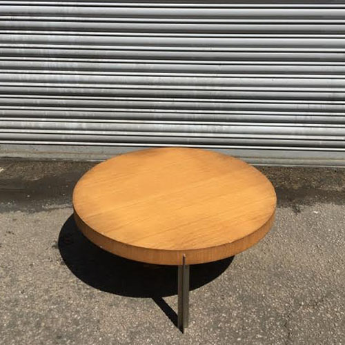 Round Retro Coffee Table: 2nd Hand Retro Round Coffee Table
