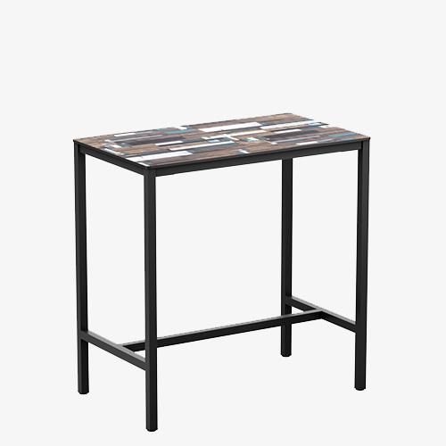 Extrema-Driftwood-4-Leg-Poseur-Table-Black-119x69cm-ZA.706CT