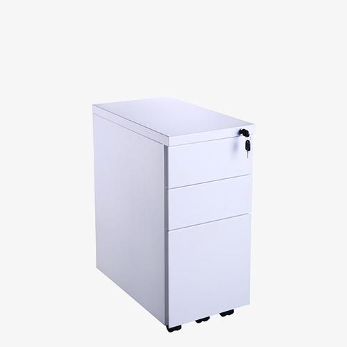 Metal-Ped-3DRW-SLIM-MP-White