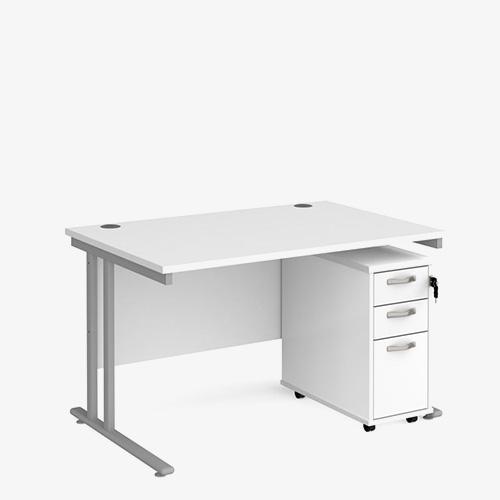 Desk and pedestal bundle