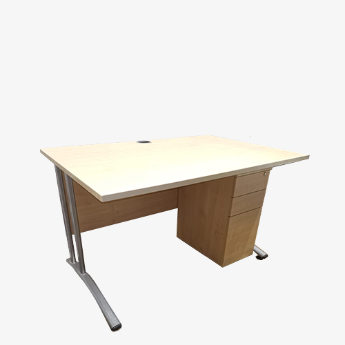 Maple desk and ped set – 2