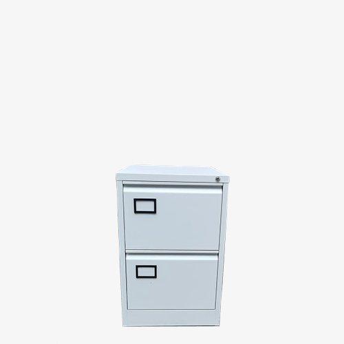 Filing cabinet – 2 drawer – white – 2